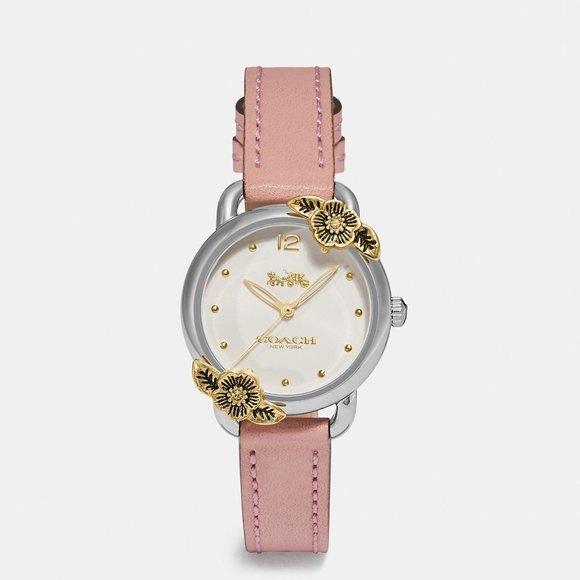 NWT Coach Tea Rose Blush Pink & Gold Watch